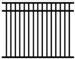 BOCA code aluminum  pool code fence 54 inches high. Matching gates are available.