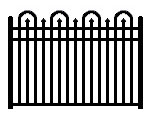 BOCA code aluminum  pool code fence 57 inches high. Matching gates are available.