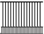 Assembled aluminum fence sections available in 4' height. Matching gates are available.
