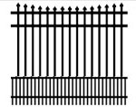 Assembled aluminum fence sections available in 4', 5' and 6' heights. Matching gates are available.