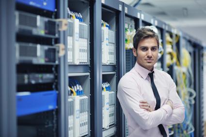 IT engineer in datacenter